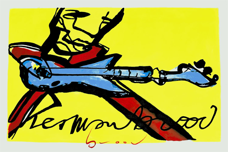 Schilderij Herman Brood Guitarman Gitaar
