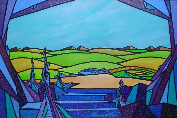 """Schilderij """"Mardeco – Utopisch landschap 3"""""""