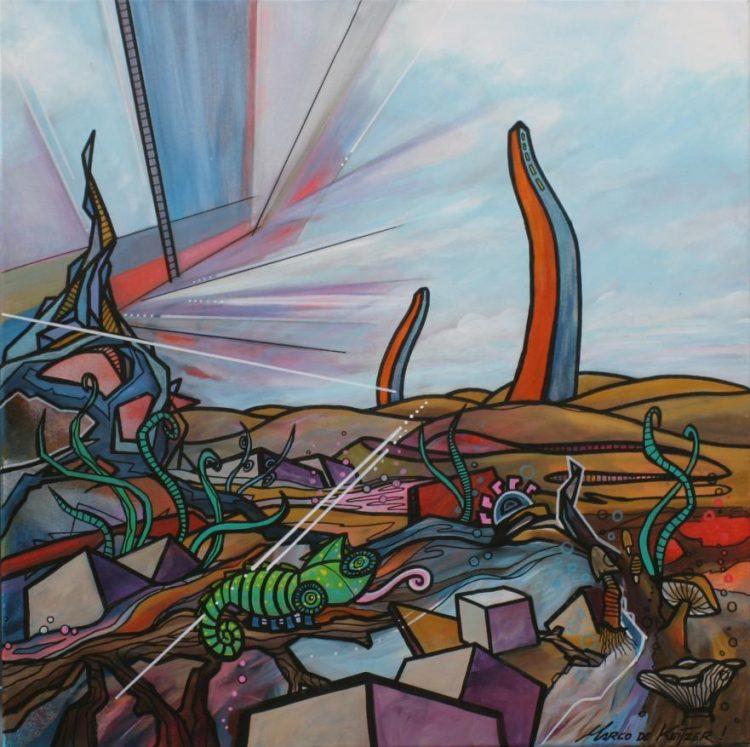 """Schilderij """"Mardeco – Utopisch landschap 9"""""""