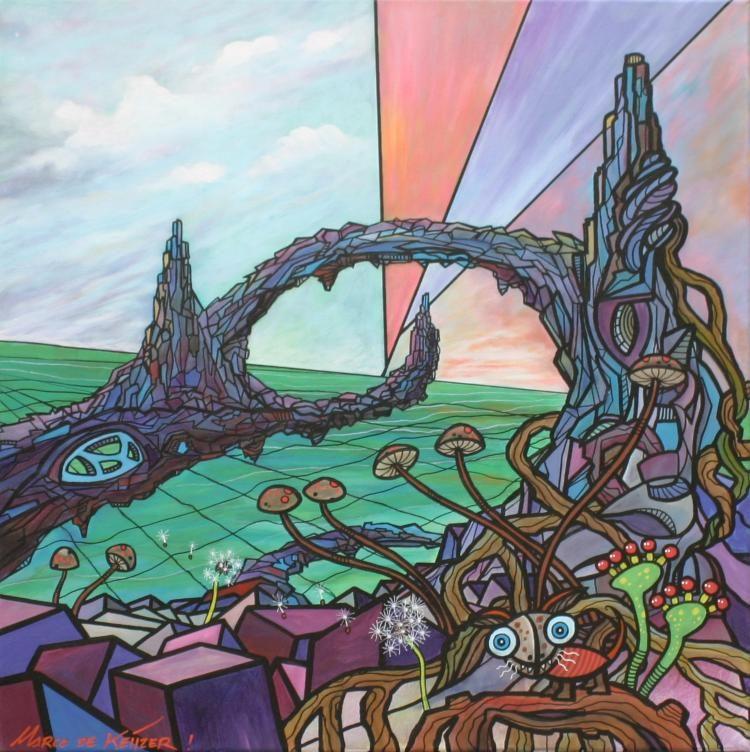 """Schilderij """"Mardeco – Utopisch landschap 13"""""""