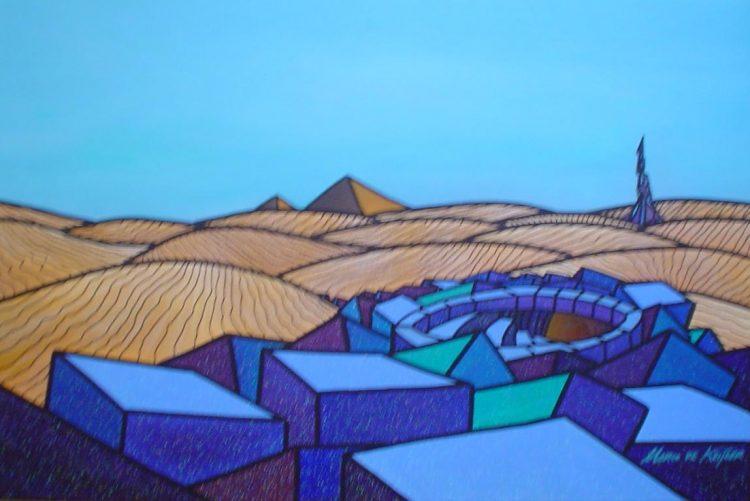 """Schilderij """"Mardeco – Utopisch landschap 4"""""""