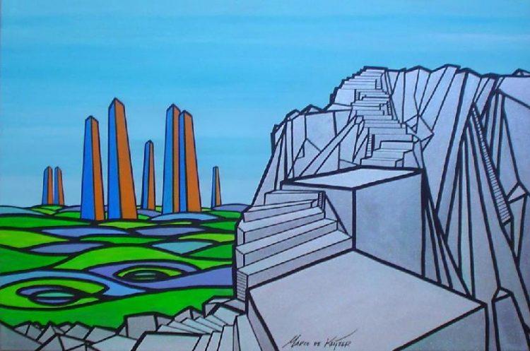 """Schilderij """"Mardeco – Utopisch landschap 5"""""""