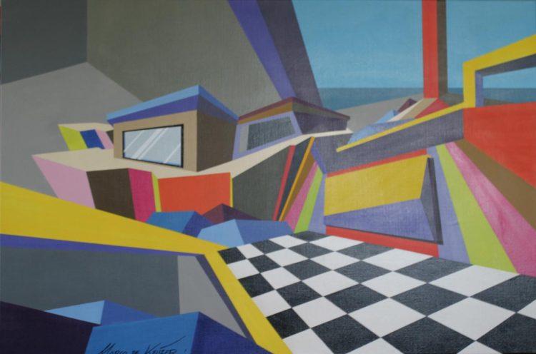 """Schilderij """"Mardeco – Utopisch landschap 14"""""""
