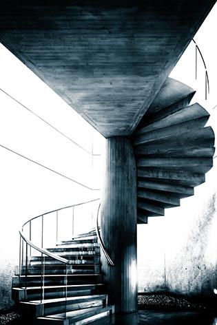 "Aluminium schilderij ""Spiral staircase"" van Mondiart"