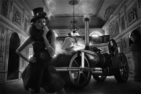 "Aluminium schilderij ""Steam glamour"" van Mondiart"