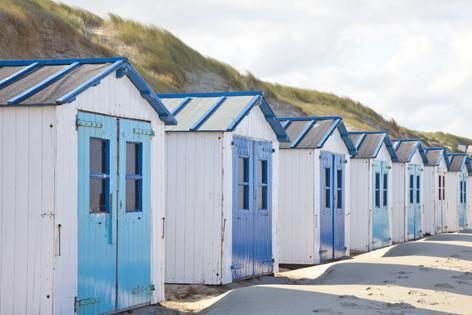 """Aluminium schilderij """"Beach houses"""" van Mondiart"""