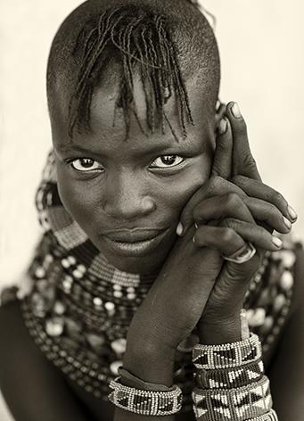 "Aluminium schilderij ""Turkana woman"" van Mondiart"