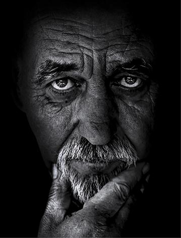 "Aluminium schilderij ""Old man"" van Mondiart"