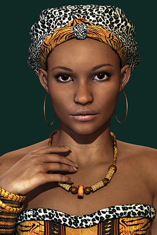 """Aluminium schilderij """"Young African woman"""" van Mondiart"""
