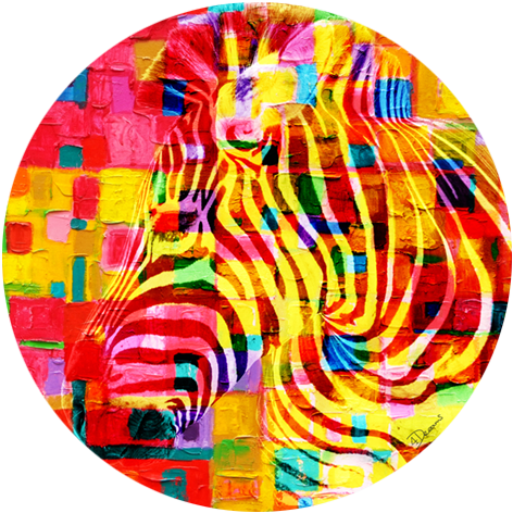 Bas – Colorful zebra
