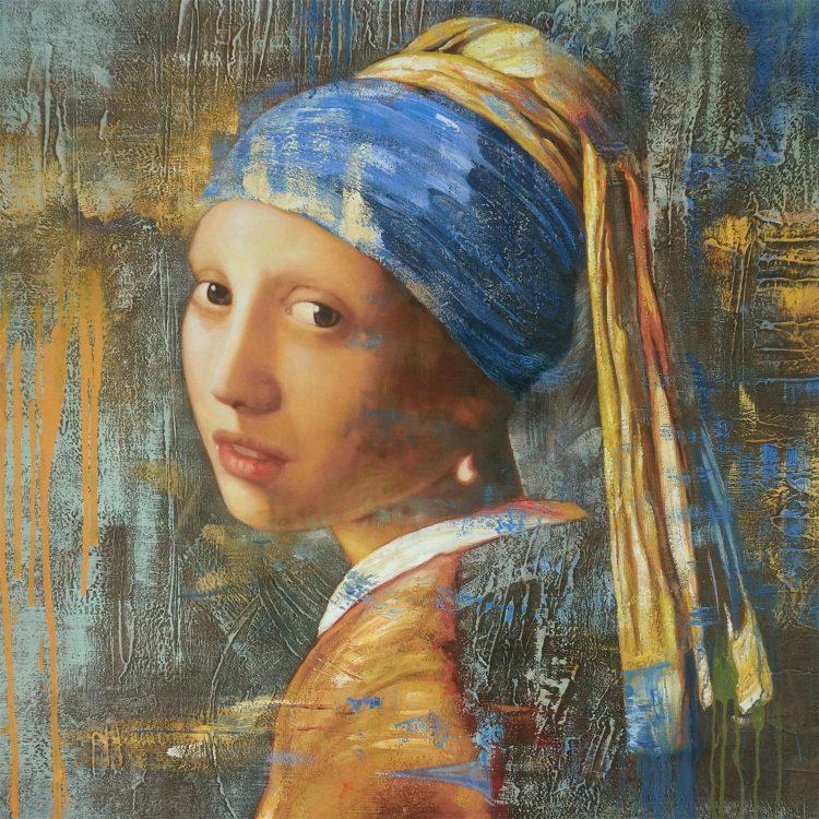 Meisje met de parel 2.0 (canvas)
