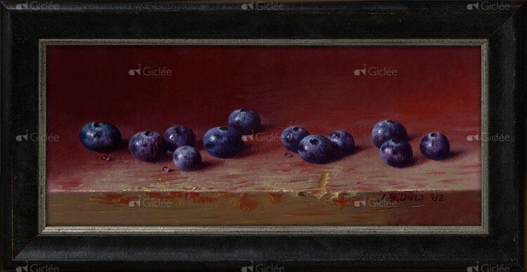 """Giclée/reproductie """"Blueberry"""" met certificaat"""