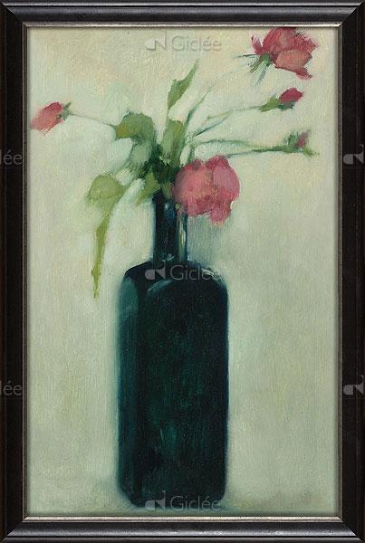 """Giclée/reproductie """"Rode rozen"""" met certificaat"""