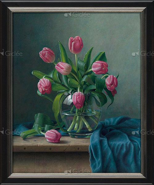"""Giclée/reproductie """"Tulpen"""" met certificaat"""