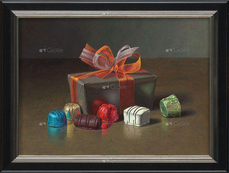 """Giclée/reproductie """"Belgian Chocolates I"""" met certificaat"""