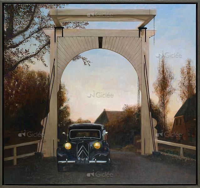 """Giclée/reproductie """"Citroën Traction Avant II BL, 1953"""" met certificaat"""