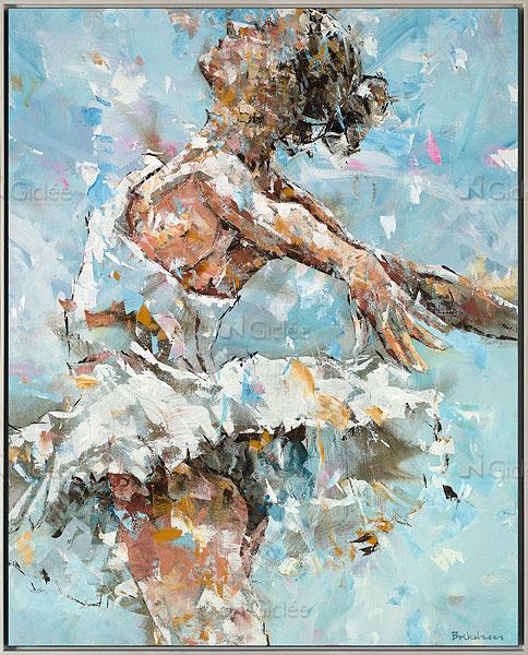 """Giclée/reproductie """"Ballerina in Blue"""" met certificaat"""