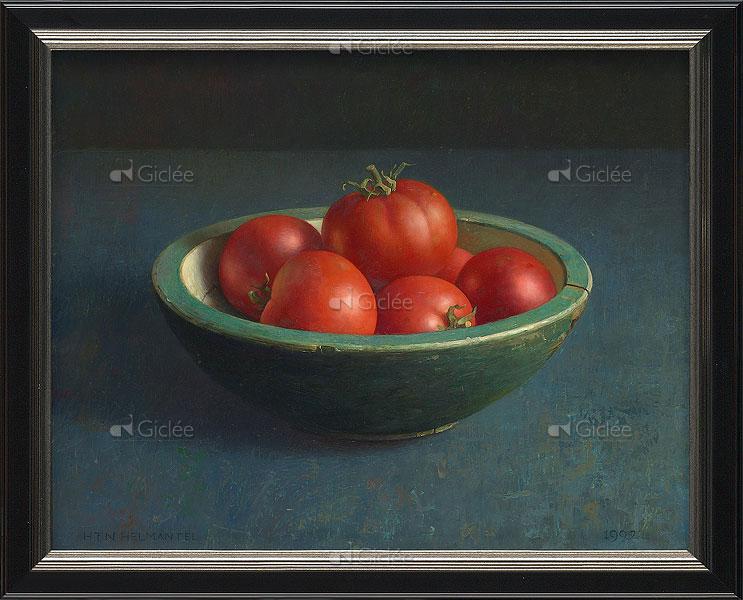 """Giclée/reproductie """"Tomaten in groene bak"""" met certificaat"""