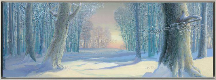 """Giclée/reproductie """"Winter"""" met certificaat"""