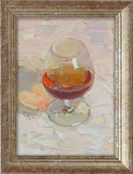 """Giclée/reproductie """"Cognac in the shade"""" met certificaat"""