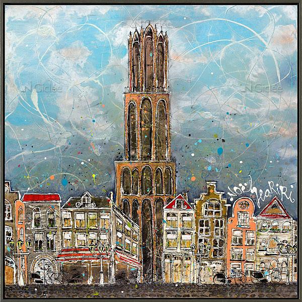 """Giclée/reproductie """"Dom Utrecht"""" met certificaat"""