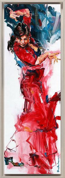 """Giclée/reproductie """"Flamenco II"""" met certificaat"""