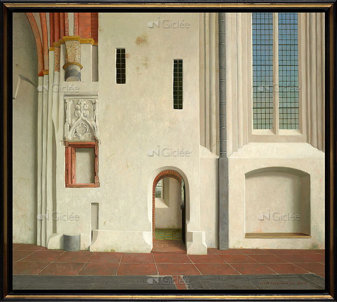 De noordmuur van de Nicolaikerk in Appingedam