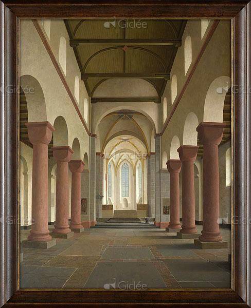 """Giclée/reproductie """"De Pieterskerk in Utrecht"""" met certificaat"""