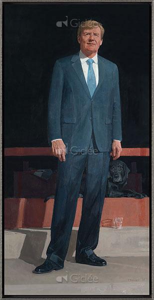 """Giclée/reproductie """"Koning Willem Alexander"""" met certificaat"""