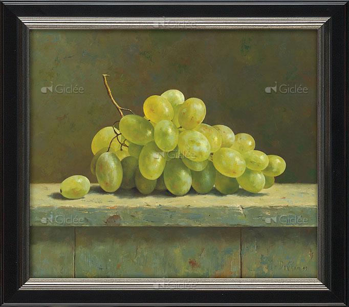 """Giclée/reproductie """"Groene druiven"""" met certificaat"""