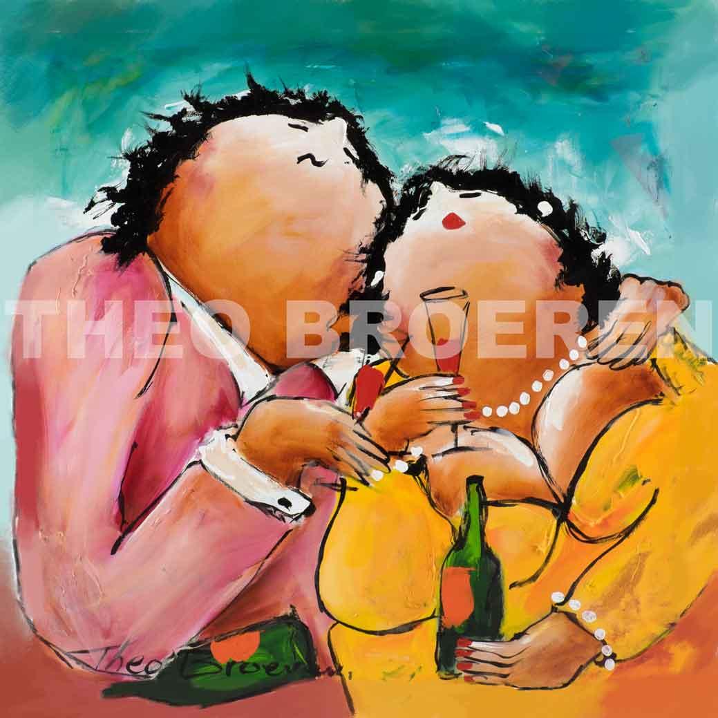 Jij en Ik dikke dames schilderij theo broeren