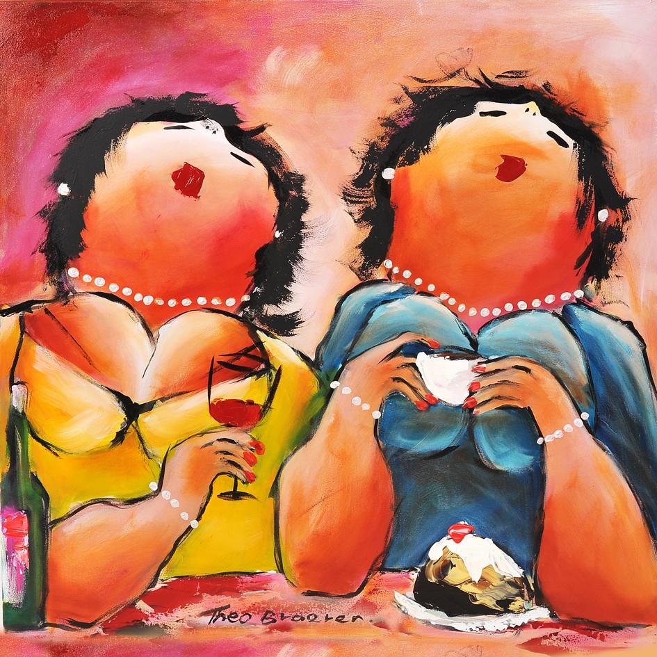 Keuvelen dikke dames schilderij theo broeren