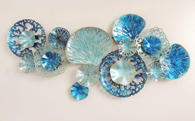Thirteen blue shapes