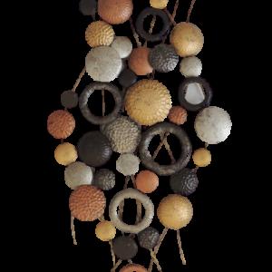 "Metalen wanddecoratie ""Endlessly many circles"""