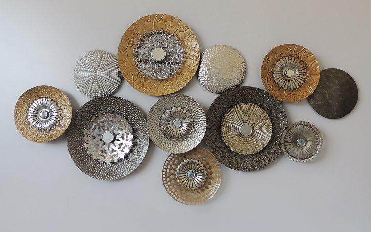 """Metalen wanddecoratie """"Eleven circles"""""""