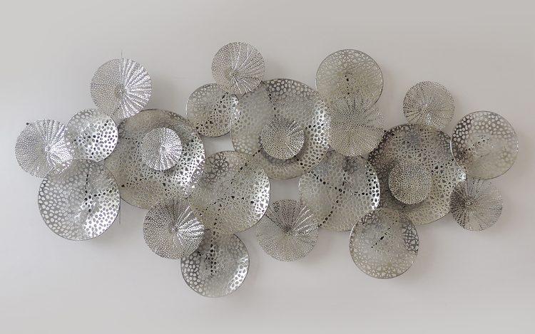 Twenty silver circles