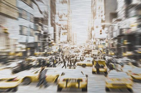 Yellow cab in Manhattan