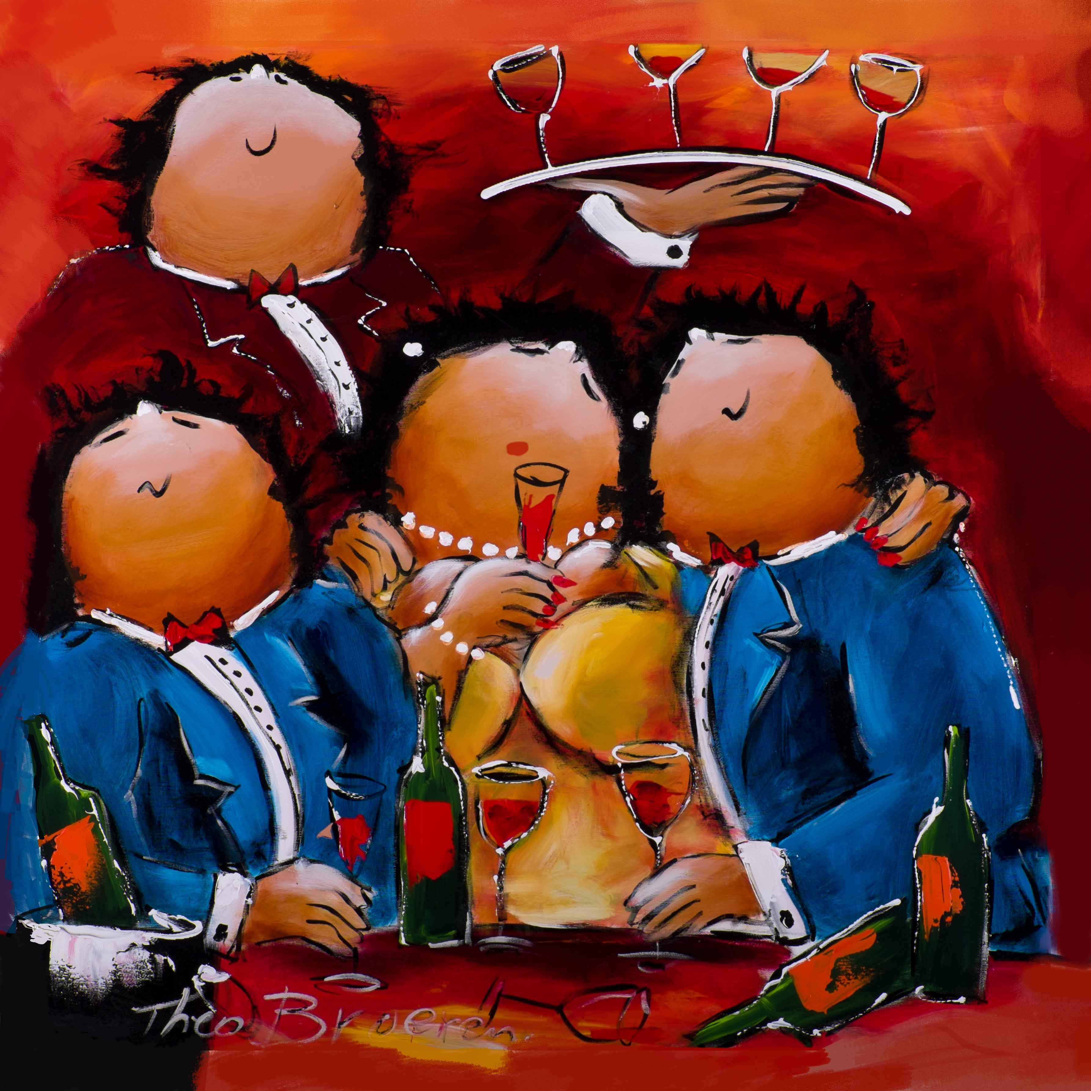 La vie est belle dikke dames schilderij theo broeren