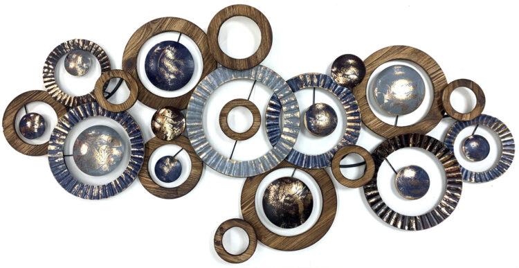 """Metalen wanddecoratie """"A lot of circles"""""""