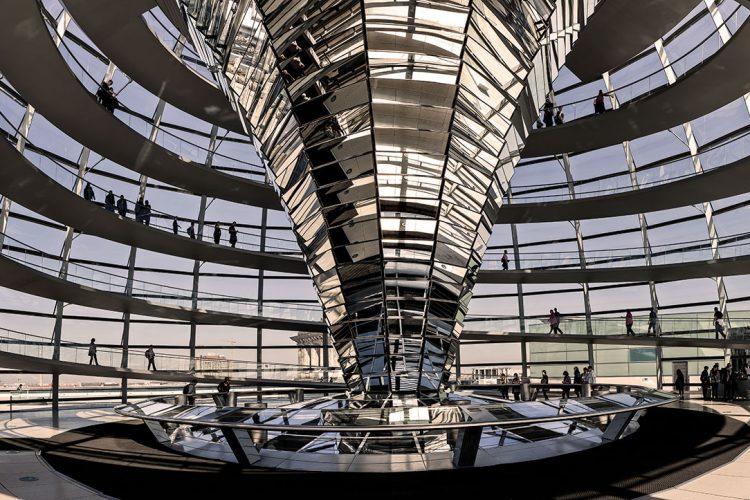 "Aluminium schilderij ""Berlijn architectuur"" van Quentin"