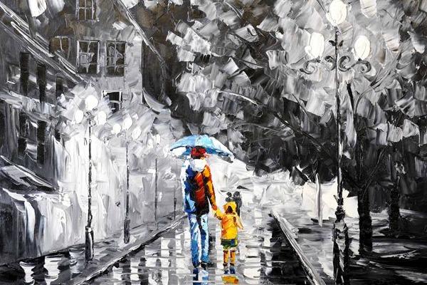 Rainy day betaalbare kunst kopen