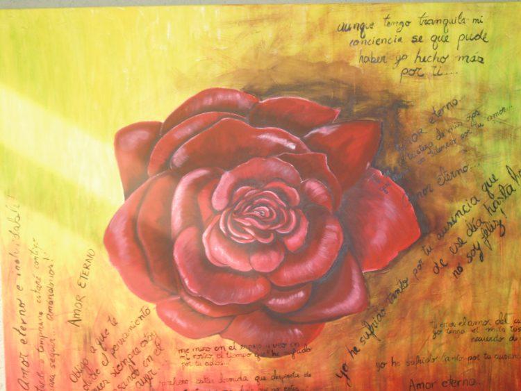 """Schilderij """"Mooie roos"""""""