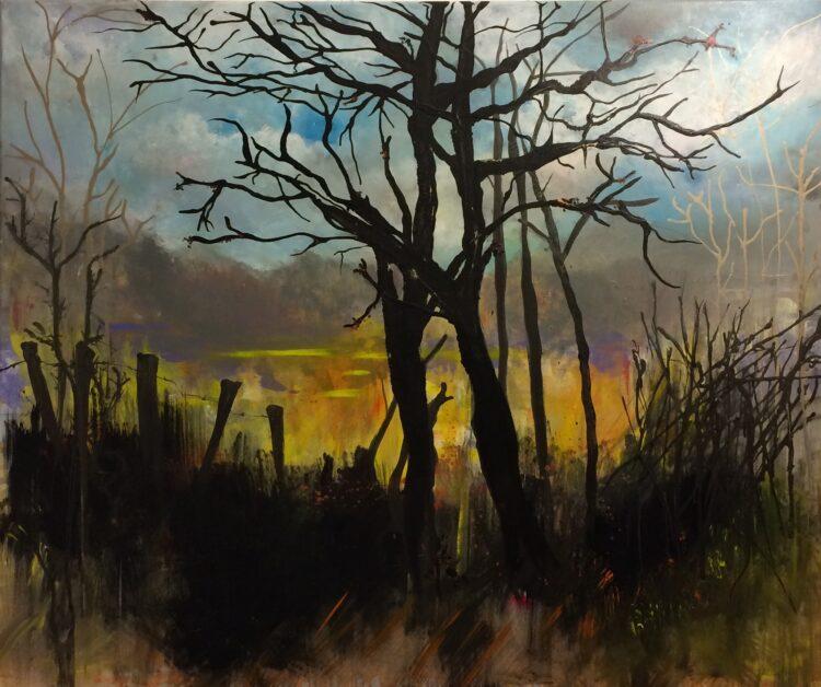 """Schilderij """"Aan de rand van het bos"""""""
