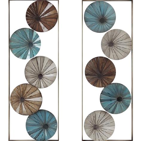 """Metalen wanddecoratie """"Double circles"""""""