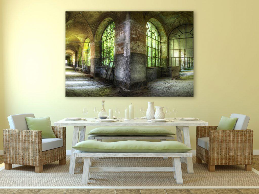 Groot Schilderij Woonkamer : Grote lege muur decoreren: welk schilderij is hiervoor geschikt?