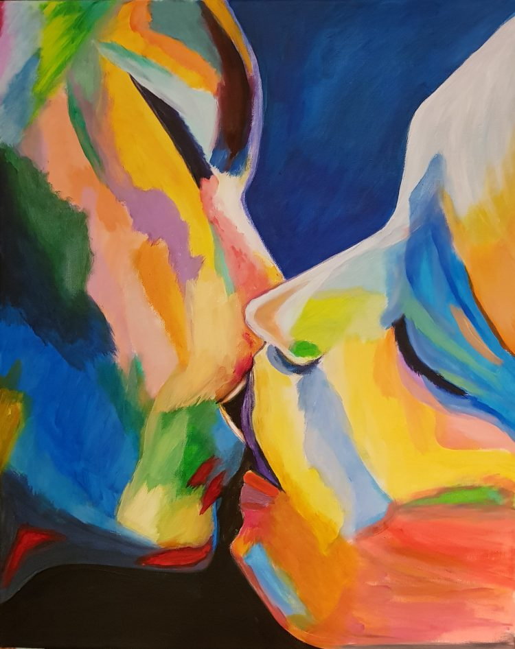 "Schilderij ""Must be love"""