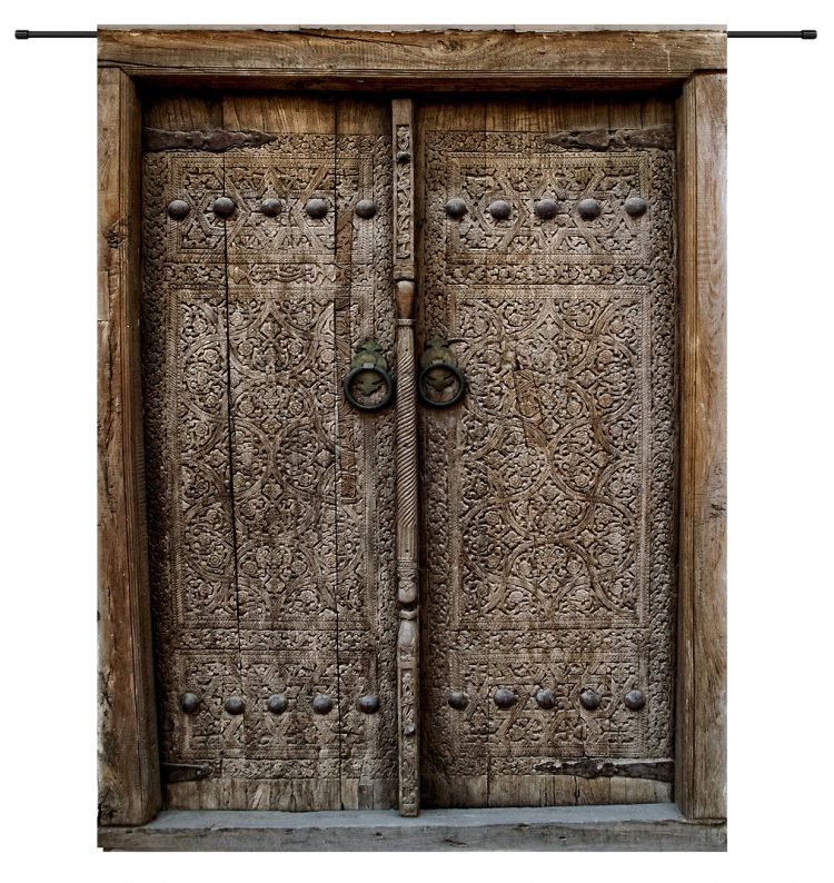 Wandkleed Old doors