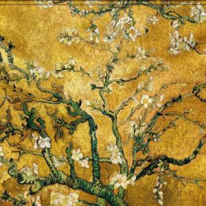 "Wandkleed ""Yellow Blossom"" van Mondiart"