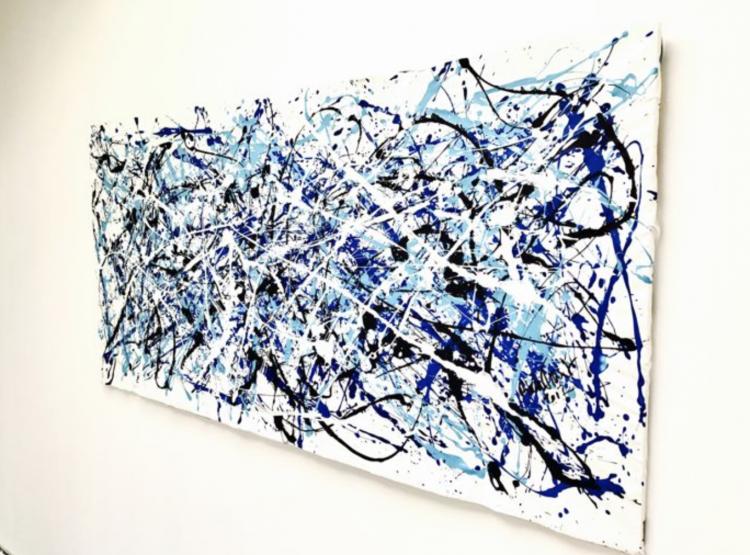 untiteld in blue and indigo – Door: Rick Triest