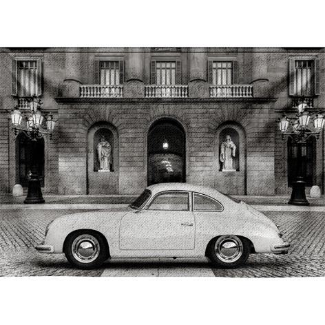 "Wandkleed ""Porsche 356"" van Mondiart"